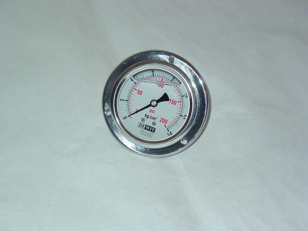 """Latón Vapor 1 5//8/"""" calibrador de presión 0-100 PSI de lectura"""